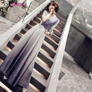 Блестящее длинное платье 2020 с v-образным вырезом для выпускного вечера, женское элегантное платье ES2495, бесплатная доставка, одежда для женщи...