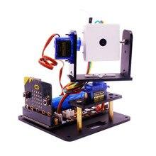 Yahboom microbit fpv câmera cardan micro: bit robô carro wi fi kit de visão inteligente rc carro robô peças de reposição