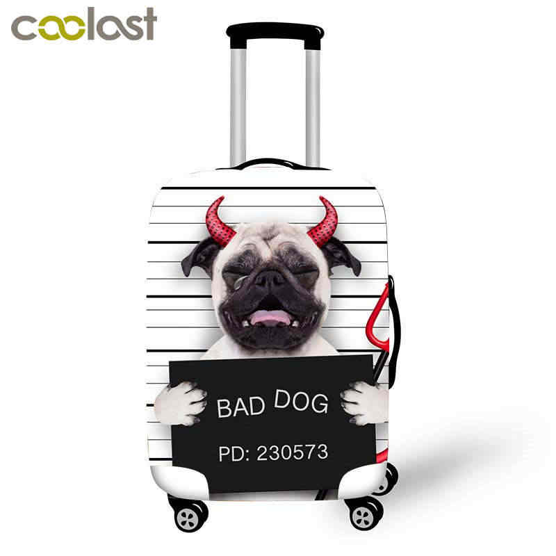 3D Print Franse Bulldog Koffer Beschermende Covers Voor Trolley Bagage Reizen Accessoires 18-32 Inch Boston Terrier Case Cover