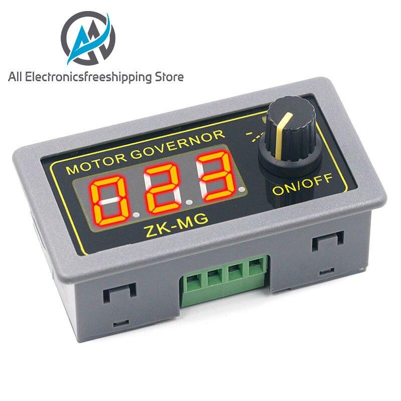Контроллер двигателя постоянного тока 5-30 в, 12 В, 24 В, 5 А, ШИМ, регулируемая скорость, цифровой дисплей, кодировщик, коэффициент заполнения, ча...