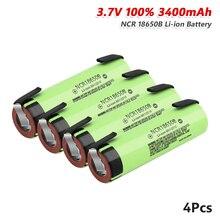 1/2/4/6/8/10pcs 3.7 V 충전식 18650 배터리 원래 NCR 18650B 3.7 V 3400 Mah 18650 리튬 이온 배터리 2 탭