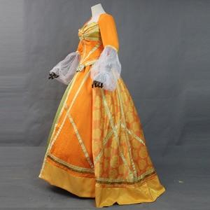 Image 3 - Di alta Qualità 2019 Movie Aladdin Jasmine Principessa di Orange Vestito Della Ragazza Delle Donne Del Partito di Halloween Cosplay Costume Arabo Royal Abito Abito