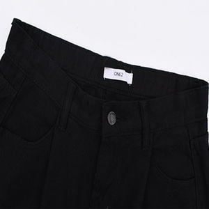 Image 5 - ג ינס נשים Loose גבוה מותן פנאי מלא אורך רחב רגל ז אן כל להתאים קוריאני סגנון פשוט נשים טרנדי harajuku יומי שיק