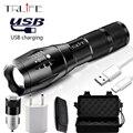 USB LED Taktische Taschenlampe Wiederaufladbare Lanterna X900 Power Bank Ausgang Taschenlampe Zoombare Wasserdichte Schock Taschenlampe für Camping-in LED-Taschenlampen aus Licht & Beleuchtung bei