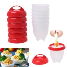6 шт. силиконовые яйцеварки чайник вареные чашки кухня сепаратор разделитель инструменты A6HB