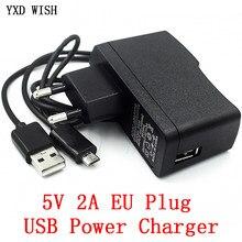 DC 5 V 2A Micro USB Power Adapter Versorgung Eu-stecker AC 100-240V Converter power Adapter 5 V Volt 100 0MA Schalter Netzteil Ladegerät