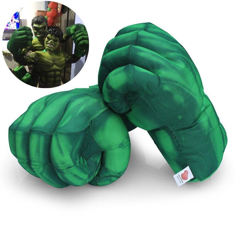 Косплей Капитан Америка Халк smash рука плюшевые мужские перчатки аксессуары для бега игрушки Детские вечерние подарки на Хэллоуин