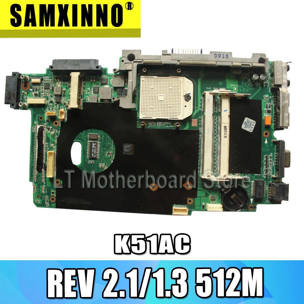 K51AB Motherboard For ASUS K51AC K70AC X7AC X7AE K70AE K51AE K70AB K70AF K70AD Laptop Mainboard HD4570 512MB VAG Video Card