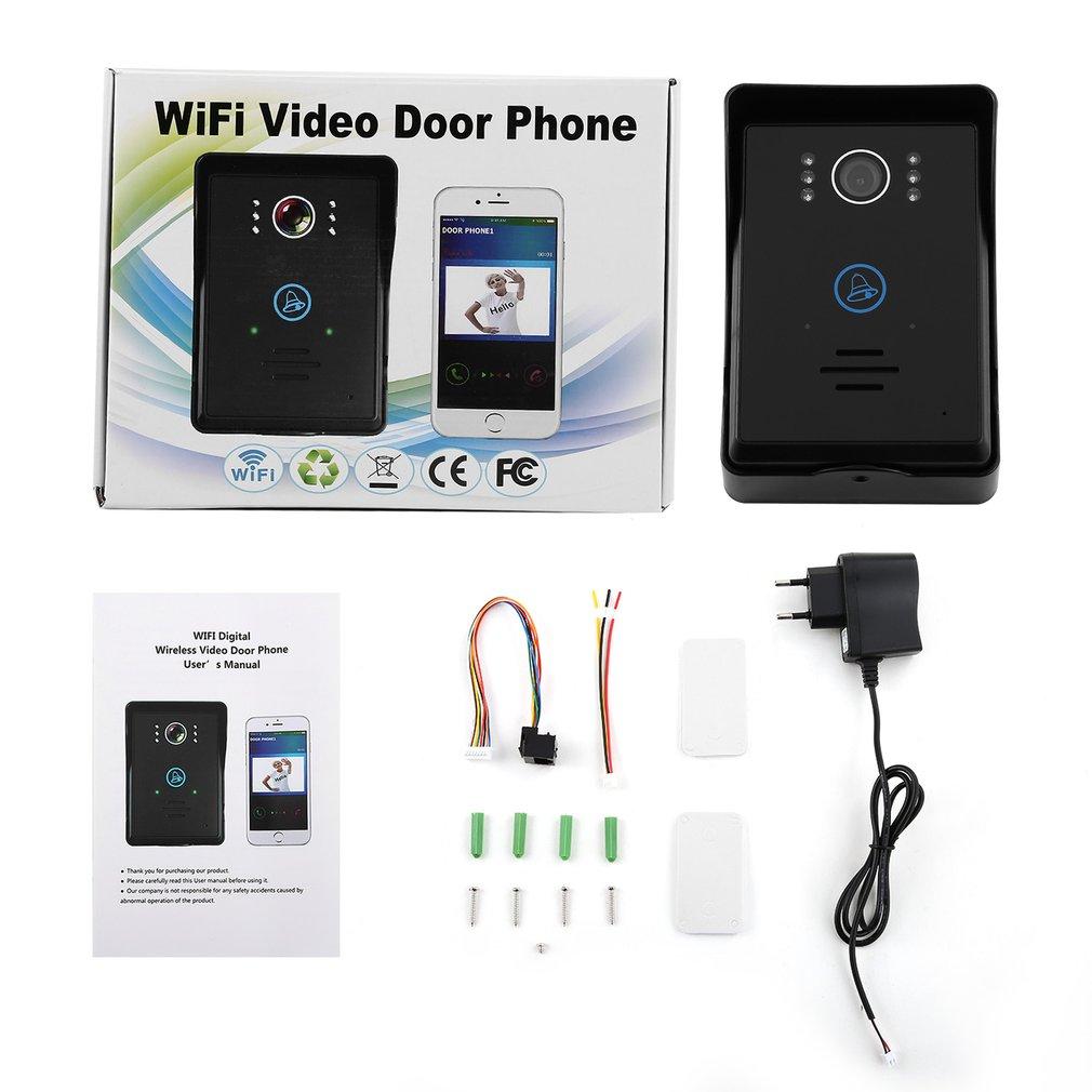Touch Key Motion Detection Video Eye Doorbell Intercom With 2 Dingdong Doorbells Ios/Android App Support Wifi Video Door Phone