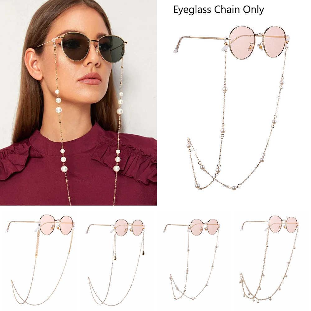 Hot nouveau 1 pièces chaînes de lunettes femmes lunettes de soleil en métal lunettes de lecture cordes lunettes Vintage sangle de maintien longes lunettes