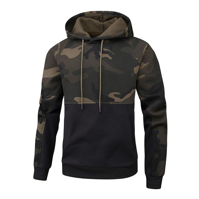 Plus EUR Size XXL Hoodies Camouflage Sweatshirt Men Hip Hop Cotton Tracksuit Sweat Coat Hoodies Male Brand Clothing Dropshipping