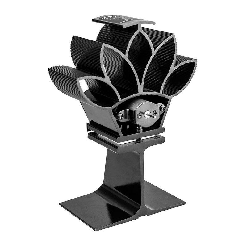2 Blades Heat Powered Stove Fan Aluminum Silent Quiet Eco-Friendly Ecofan Burner