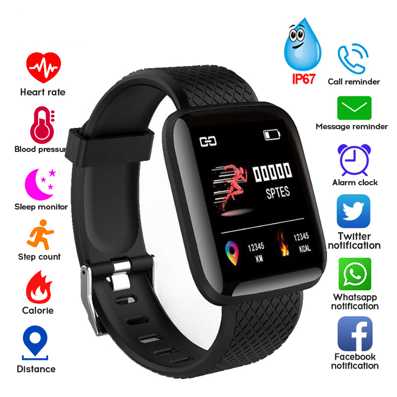 Pedometer Monitor Watch Fitness-Tracker Smart-Band Blood-Pressure-Measurement Waterproof title=