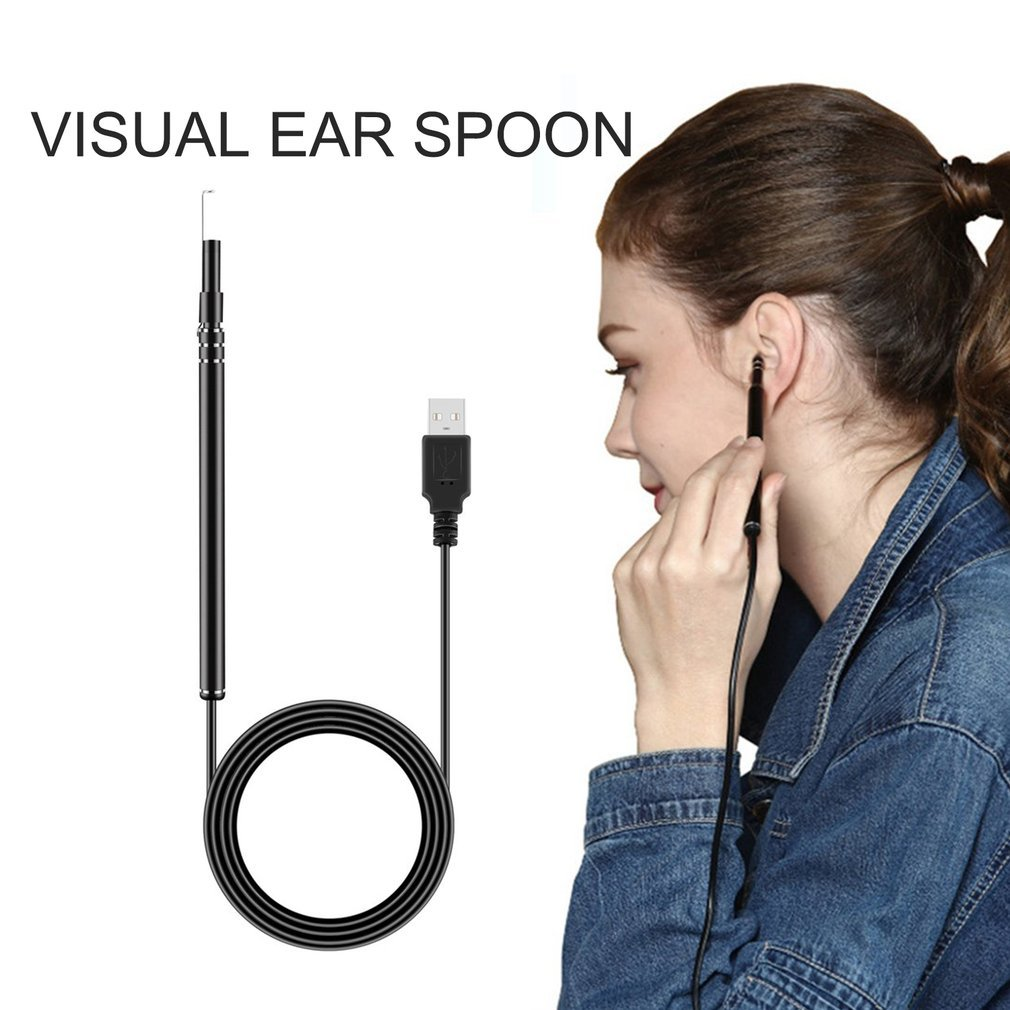 (International packaging)USB Ear Cleaning Endoscope HD Visual Spoon Multifunctional With camera Luminous Earwax Ear Care