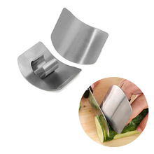 New 1/2 Fingers Guard Protect Stainless Steel Hand Protector Vegetable Cutting Knife Cut Finger Protection Kitchen Gadgets Tools