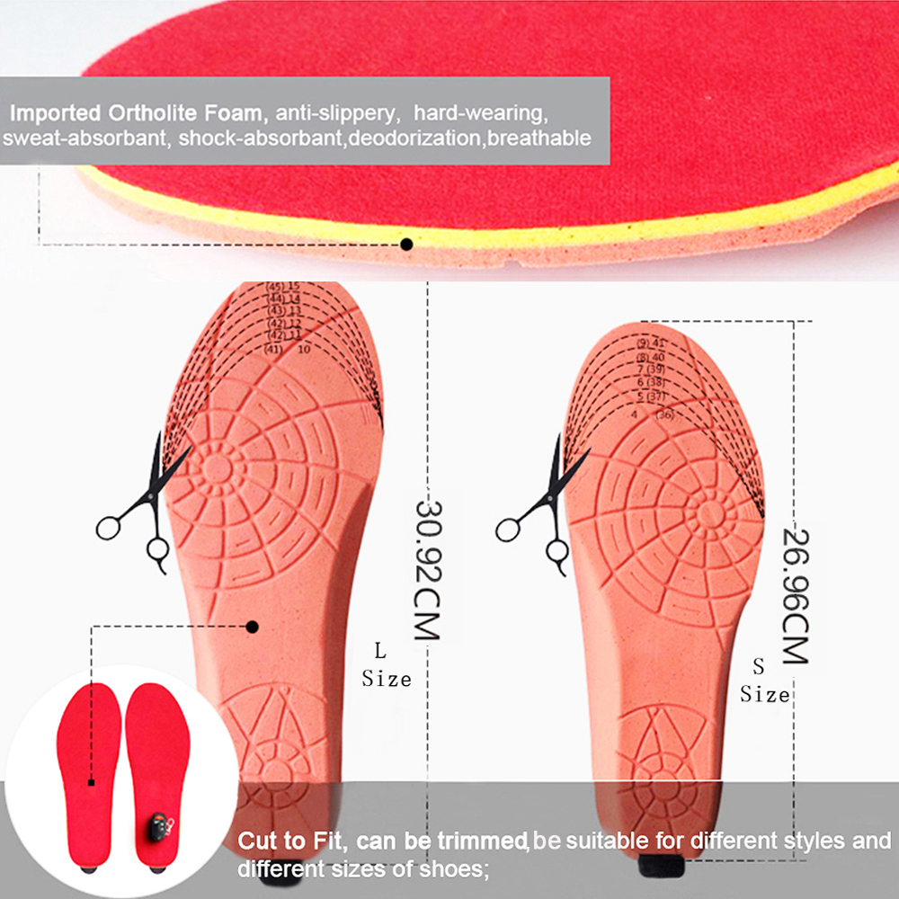 Image 2 - NEW Heated Insoles with Wireless Remote Control Battery Powered for Men and Women Winter Thermal Heating Insoles EUR Size 41 46-in Insoles from Shoes