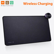 Original Xiaomi MIIIW Mouse Pad Smart Qi Standard Support Mix2S Wireless Charging Mousepad ABS Mouse Mat RGB Light Mouse Pad