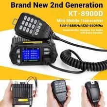 KT8900D портативная рация дальняя Двухдиапазонная связь мини трансивер автомобильный компактный грузовик мобильное Радио УКВ Quad режим ожидания