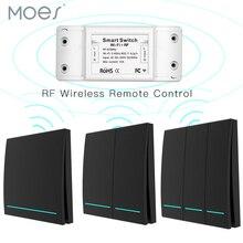 RF433 приемник Wifi Беспроводной RF пульт дистанционного управления умный кнопочный переключатель, приложение Smart Life/Tuya, работает с Alexa Google Home