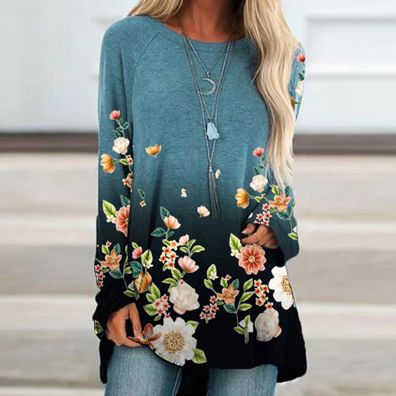 Sıcak satış Harajuku gömlek kadınlar O boyun gevşek uzun kazak Tops sonbahar kadın gömlek Casual uzun kollu T Shirt kadın üst