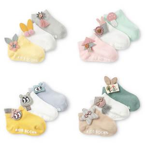 Baby Socks Socks-Accessories Decorative-Socks Newborn Antislip Infants Cute Cartoon 3-Pair/Lot