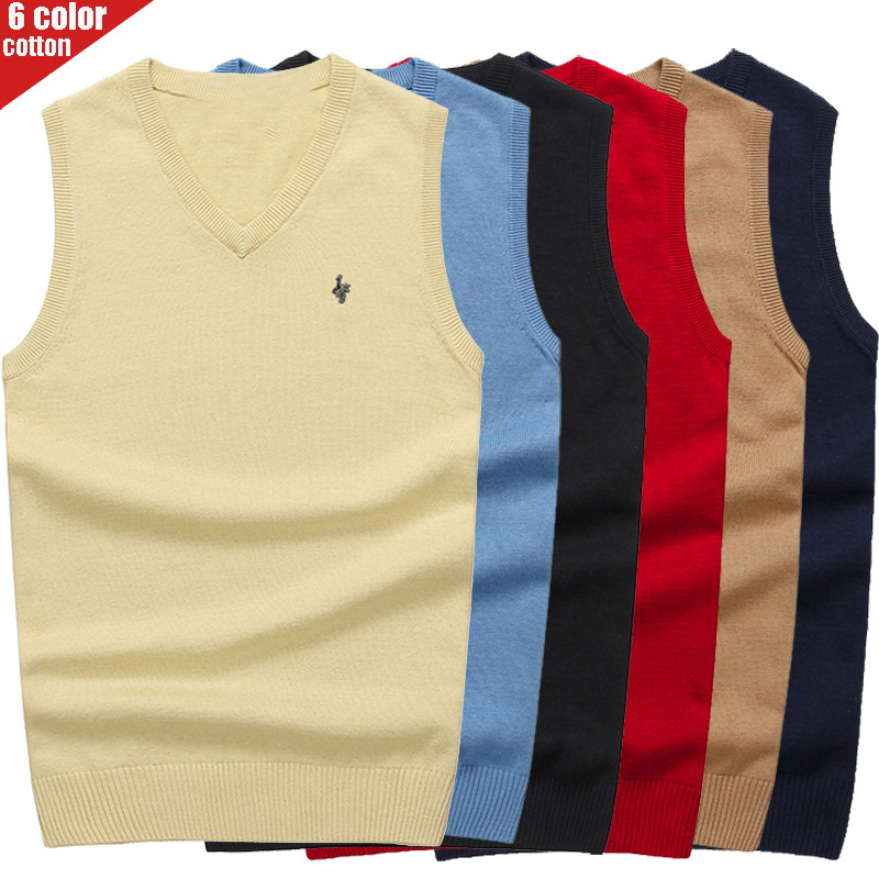 Digital Peacock Autumn/winter 2019 New Men's Cotton Sweater Vest Business Casual V-neck Slimming Vest Pullover Sweater 8501