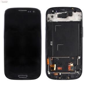 Image 3 - Catteny I9301 I9305จอแสดงผลLcdสำหรับSamsung Galaxy S3 Lcd I9300จอแสดงผลที่มีหน้าจอสัมผัสDigitizerสมัชชา + กรอบ + Homebutton