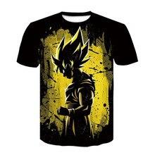 Hot Sale 2019 New Dragon Ball DBZ Men T Shirt 3D Super Saiyan Vegeta T-shirt Men Women Fashion Anime