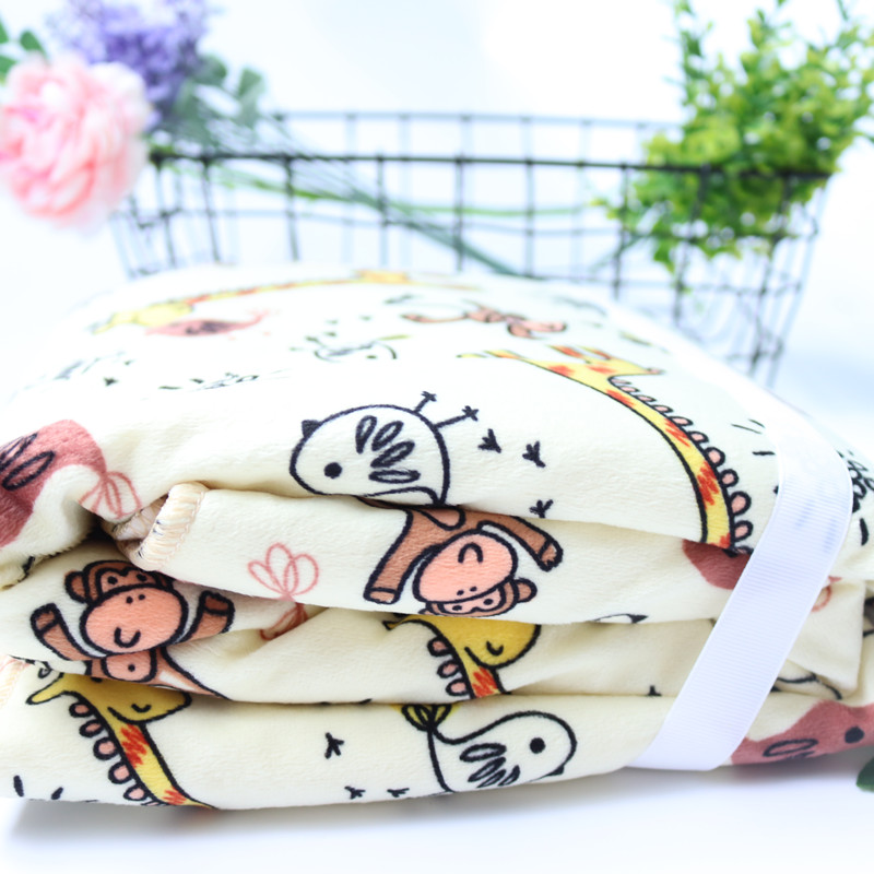 Baby Blankets New Thicken Double Layer Coral Fleece Infant Swaddle Bebe Envelope Wrap Owl Printed Newborn Baby Bedding Blanket | Happy Baby Mama