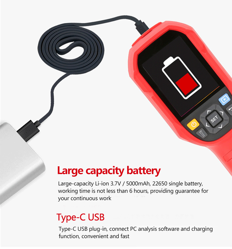 Mini Infrared Thermal Imaging Camera With Type-C USB Interface for Lithium Battery Charging 15