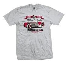 Футболка с коротким рукавом для автомобильного клуба Fat Face-популярная футболка для соляной гонки с мускулами 0365N