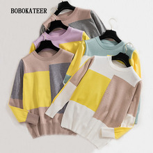BOBOKATEER hiver christmas sweater women turtleneck clothes pullover sueter mujer invierno 2019 pull femme
