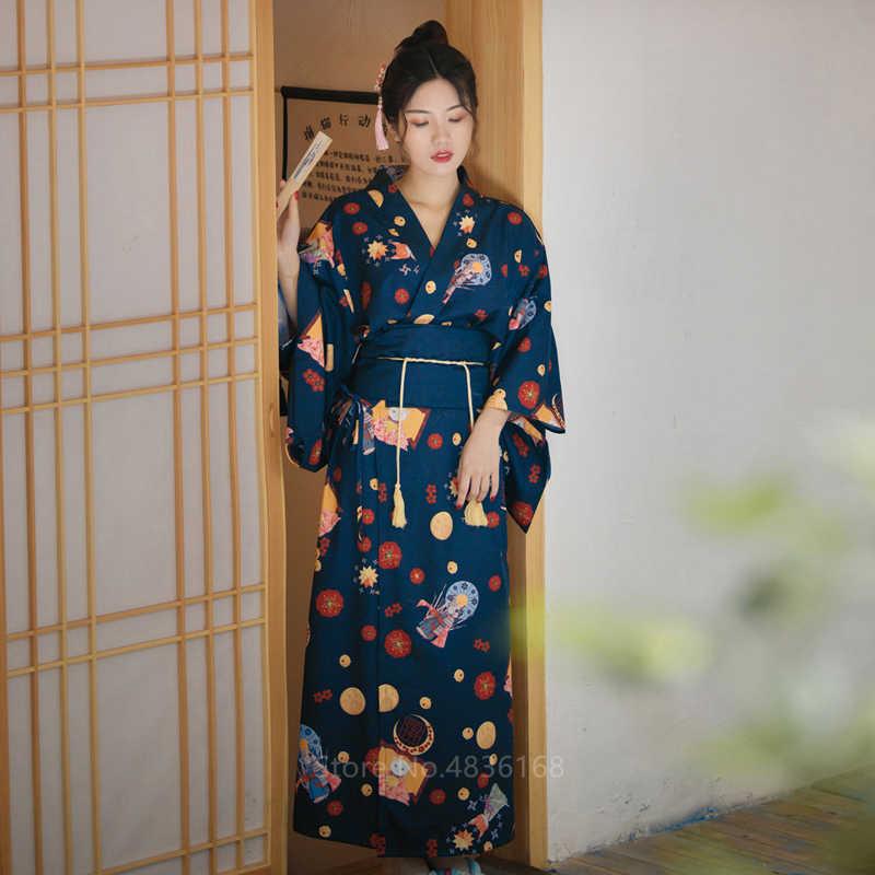 Sakura Girl Costume Mulheres Vestido Haori Quimono japonês Tradicional Cardigan Princesa Cosplay Halloween Costume Partido Harajuku
