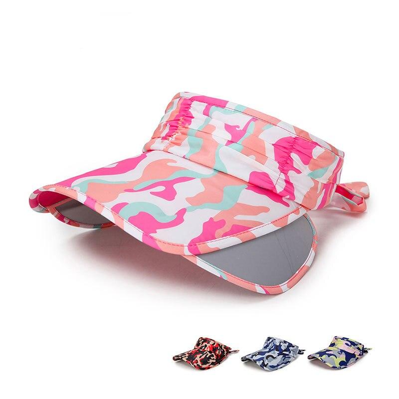 Summer Fast Dry Visor Cap Adjustable Brim Women Top Air Caps Outdoor Ladies Camouflage Sunhat Beach Hat for Female GH-760