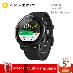 Globale Version Original Huami Amazfit Stratos 2 Smart Uhr Sport GPS 5ATM Wasser 2.5D GPS Firstbeat Schwimmen Smartwatch