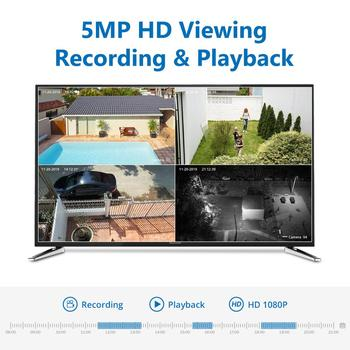 SANNCE 8CH 5MP FHD POE Video Surveillance Cameras System H.264+ 5MP NVR With Outdoor Waterproof Security IP Cameras Audio Record 2