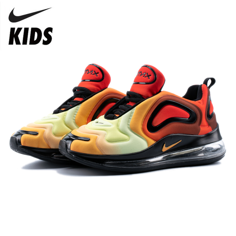Nike Air Max 720 Kids Shoes Original New Arrival Children Running Shoes Comfortable Sports Air Cushion Sneakers #AO9293-608