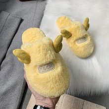 Women Winter Home Slippers Cute Cartoon Shoes Soft Cotton Winter Shoes Warm House Slippers Indoor Bedroom Lovers Couples Shoes dreamshining warm slippers women bedroom winter slippers women cartoon bowtie japanese indoor slippers cotton floor home shoes