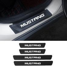 4 шт защитные наклейки на пороги автомобиля ford mustang gt