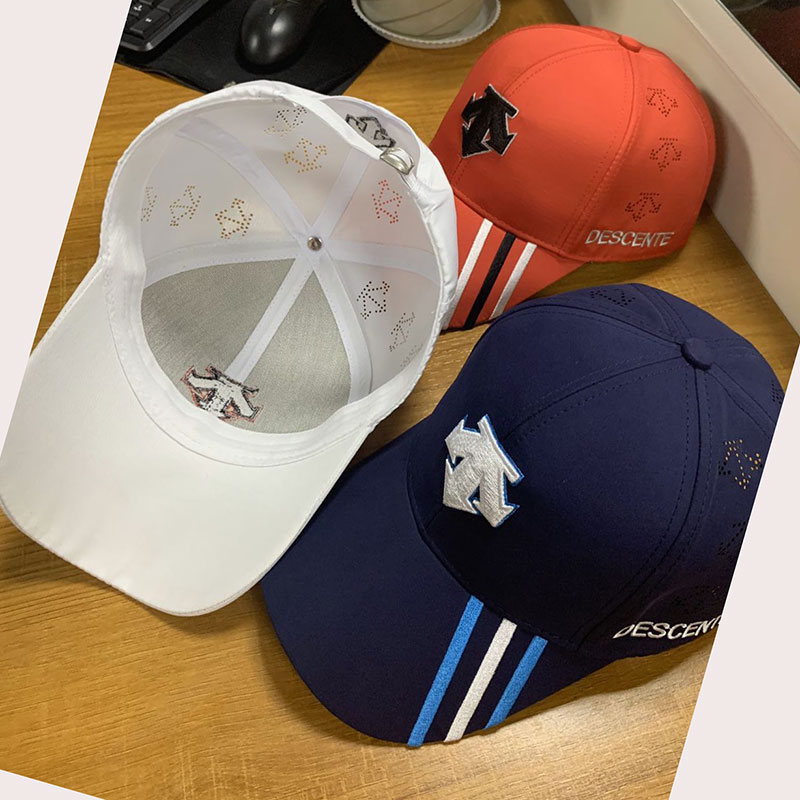 Swirl New Golf Hat Tennis Hat DESCENTE Outdoor Shade Fashion Sunscreen Hat Free Shipping (Purchase Remark Color)