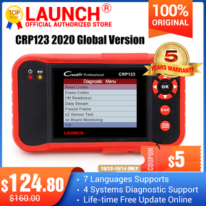 2020 Top selling Launch CRP123 Update Online LAUNCH X431 Creader CRP123 ABS, SRS, Transmission and Engine Code Scanner DHL free
