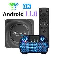 Caja de TV Android 11 X88 PRO 20 8GB RAM 128GB ROM 4GB 32GB 64GB Youtube Android TV Box 2,4G 5G Smart TV Box 8K Set Top Box