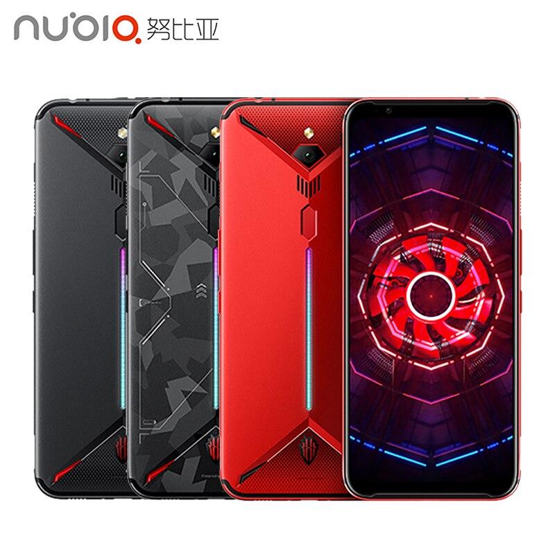 """ZTE Nubia rouge magique 3 téléphone portable 6.65 """"Snapdragon 855 octa-core empreinte digitale avant 16MP arrière 48MP 8GB 128GB 5000mAh jeu téléphone"""