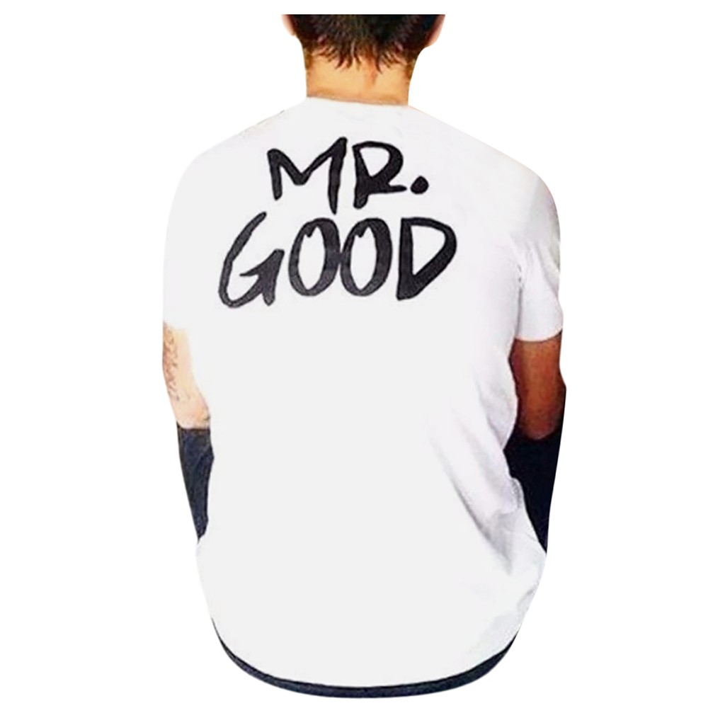 Matching Couple t shirt For Lovers Tee tshirts Mrs Mr Good Life Tops Short Sleeve T-Shirt Plus Size Tees Valentine's Day Gifts