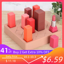 Lipstick Holder Silicone Organiser Makeup Display 16 Lattices Stand Case Cosmetic Organizer Box