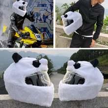 1 шт чехол для мотоциклетного шлема из кораллового флиса забавный