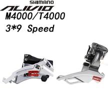 Shimano Alivio FD M4000 T4000 9 속도 자전거 앞 변속기 9 s MTB 자전거 산악 자전거 부품 3x9S 27S 속도 M4000 TS DS