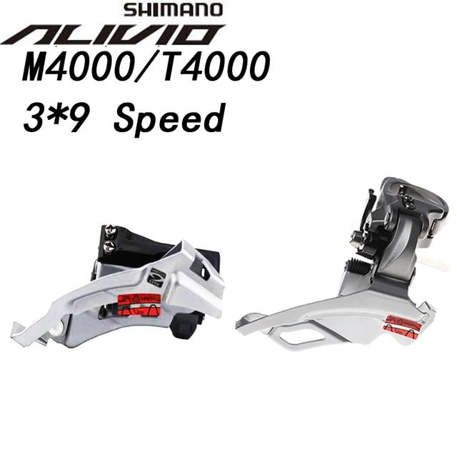 Shimano Alivio FD M4000 T4000 9 velocità Deragliatore bici 9 s MTB Della Bici Parti di Biciclette di Montagna per 3x9S 27S Velocità M4000 TS DS