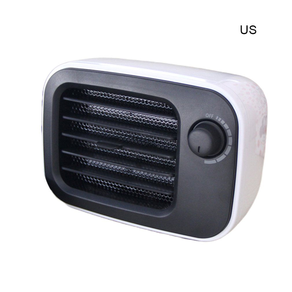 Retro Classic PTC Ceramic Heating Fan EU US Plug Round Timing Noiseless Heater Home Office Heater Compact Drop Shiping