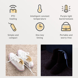 Image 5 - Baseus 200V 신발 건조기 히터 Secador 탈취제 제습 장치 발 온열 장치 히터 겨울 신발 건조기 신발 랙